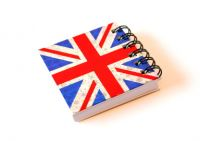 Holographic union jack notebook